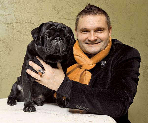 Александр Васильев со своим любимым псом
