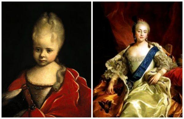 Императрица Елизавета Петровна в детстве и в молодости
