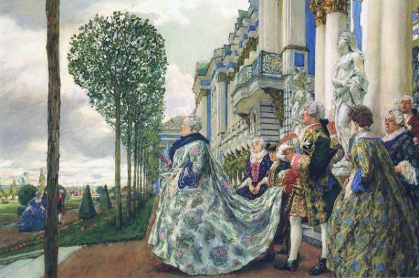 Императрица Елизавета на прогулке