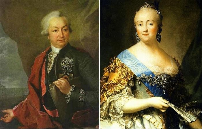 Императрица Елизавета и князь Разумовский
