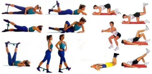Упражнения от целлюлита на попе