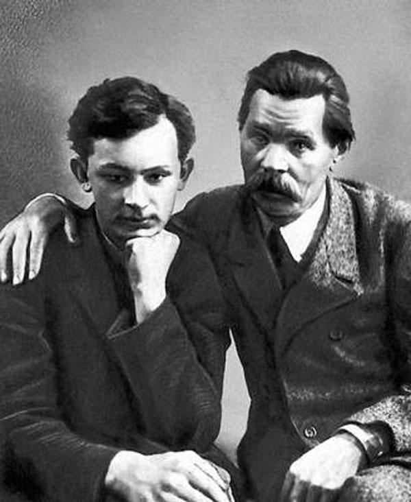 Максим Горький с сыном
