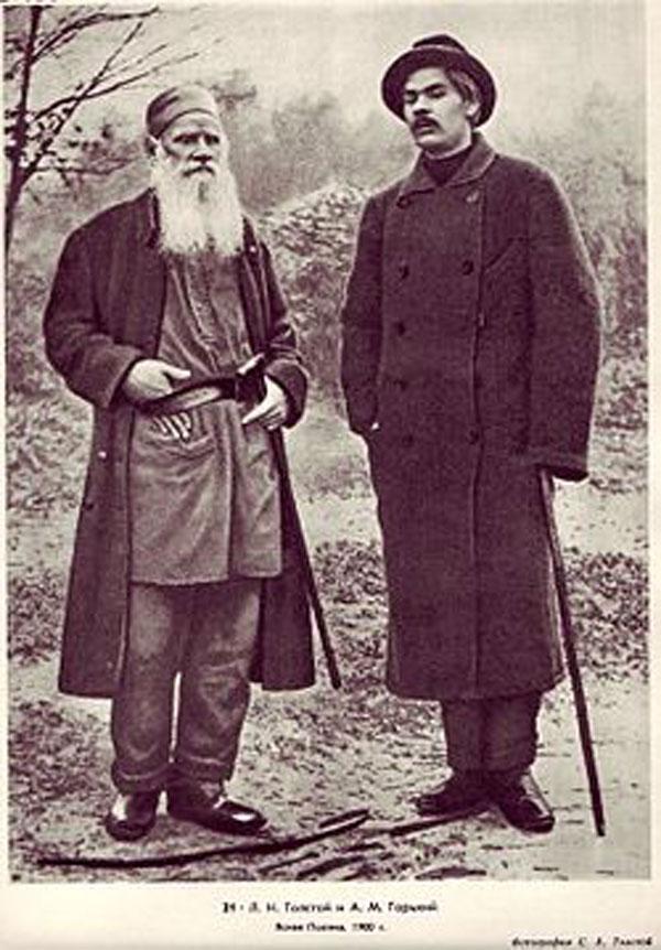 Писатель со Львом Николаевичем Толстым