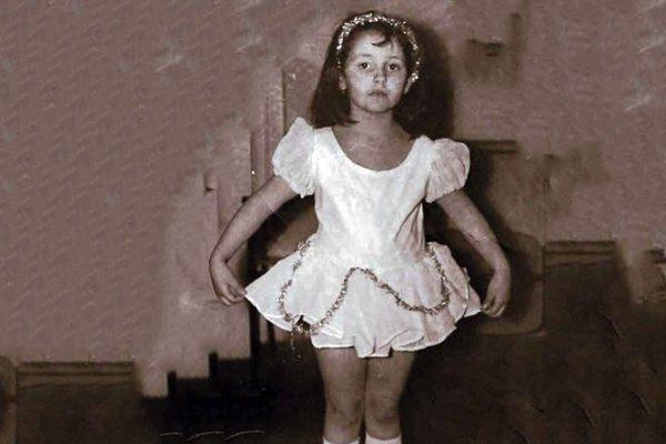 А. Духова в детстве