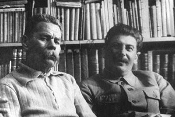 Максим Горький с Иосифом Сталиным