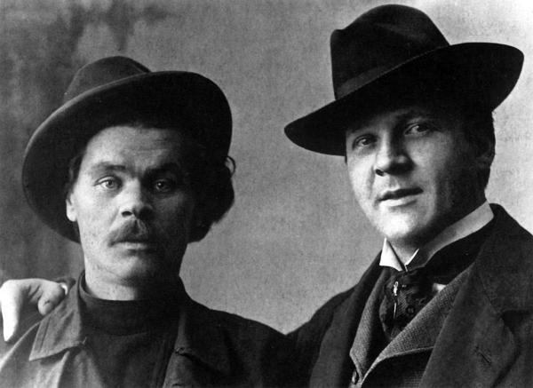 С близким другом Федором Шаляпиным