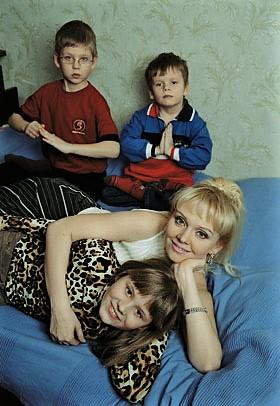 Валерия с детьми