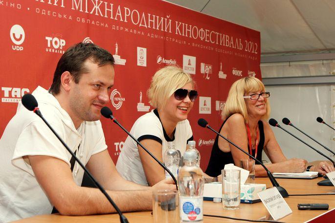 Яна Троянова и Василий Сигарев на кинофестивале