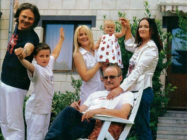 Соня Евдокименко в детстве со своей семьей