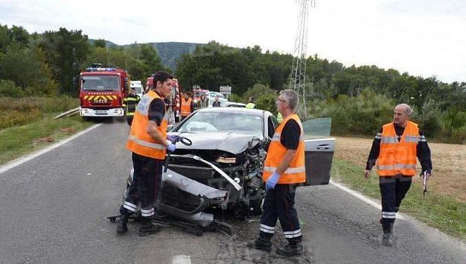 Фото с места аварии во Франции