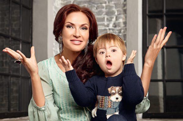 Актриса с сыном Семеном
