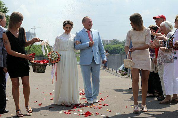 Свадебные фото актера с женой Инной