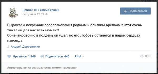Фото, появившееся в блоге после смерти Арслана Валеева