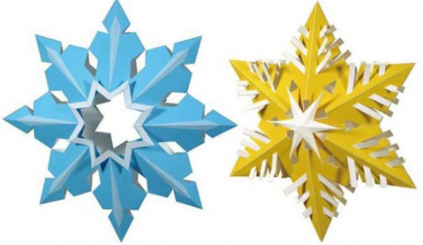 Screenshot_3-1-e1506069180499 Объемные снежинки из бумаги своими руками, с эффектом 3D, в форме шара и звезды, с использованием старых газет и втулок от туалетной бумаги