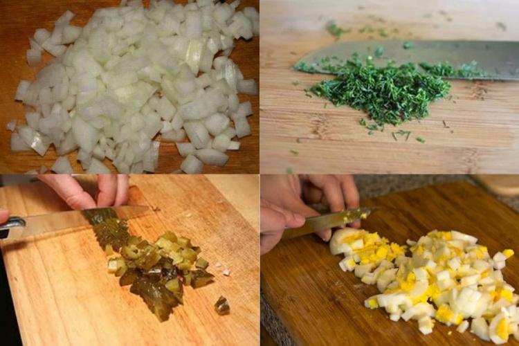 Подготовить ингредиенты для салата
