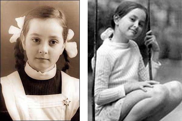 Детские фото Ольги Кабо