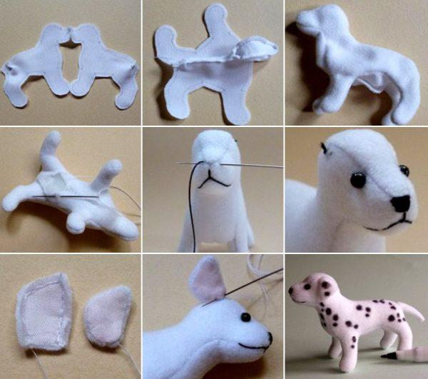 Новогодняя игрушка собака своими руками: оригинальные идеи, фото