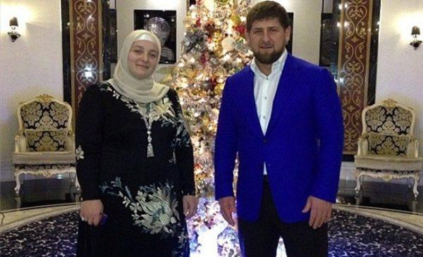 Кадыров со своей женой