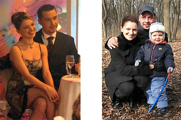 Актриса с бывшим мужем и сыном