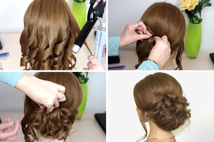 Причёска на короткие волосы поэтапно