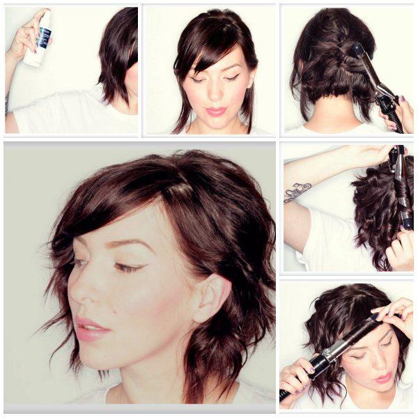 Причёски на короткие волосы на каждый день своими руками: фото пошагово