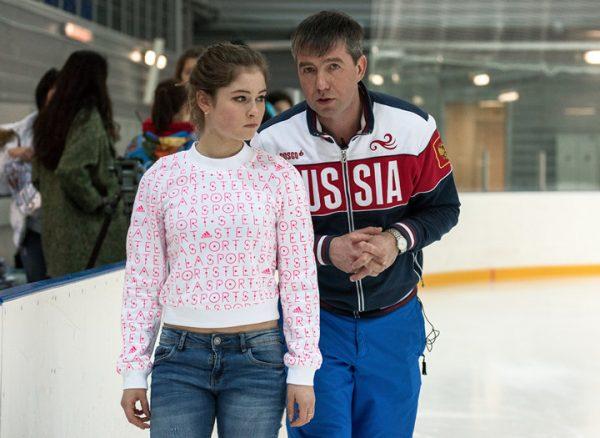 Ю. Липницкая со своим тренером