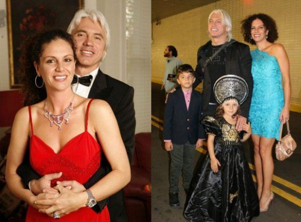 Со второй женой Флоранс и детьми