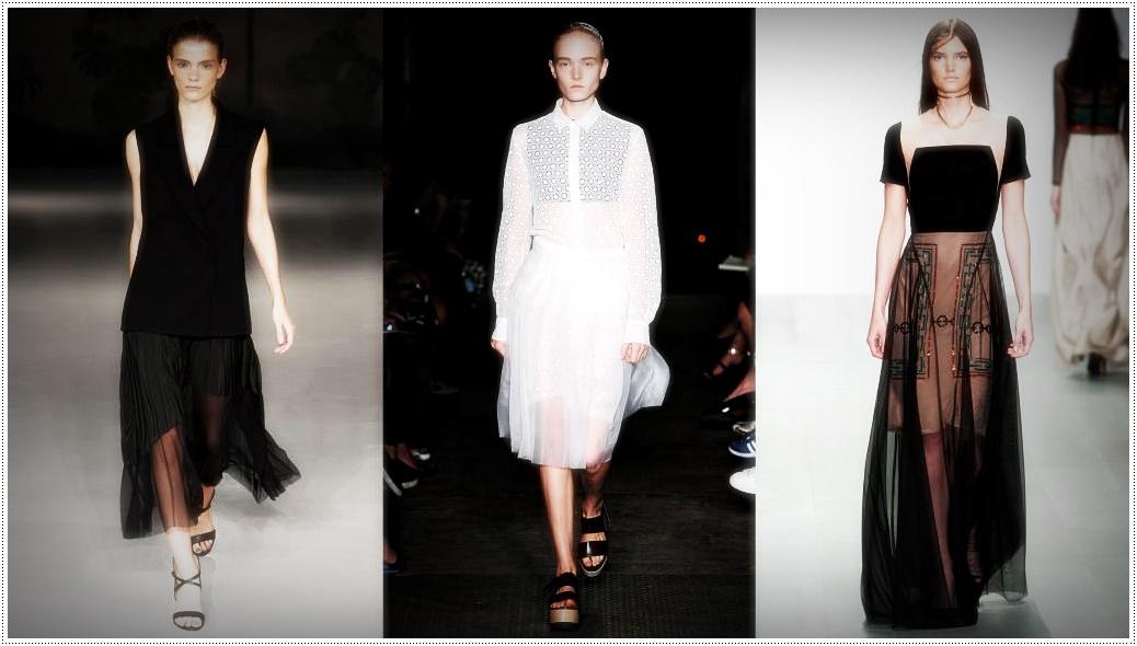 Прозрачные юбки и платья