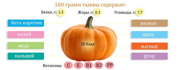 Полезный состав тыквы