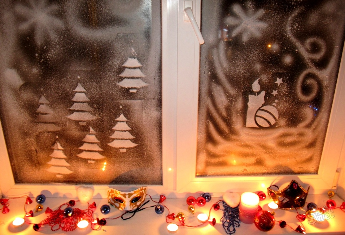 Варианты морозных узоров на окнах