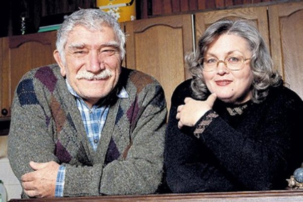 Актер со своей второй женой