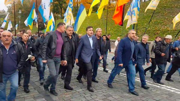 Фото: Михаил Саакашвили на митинге