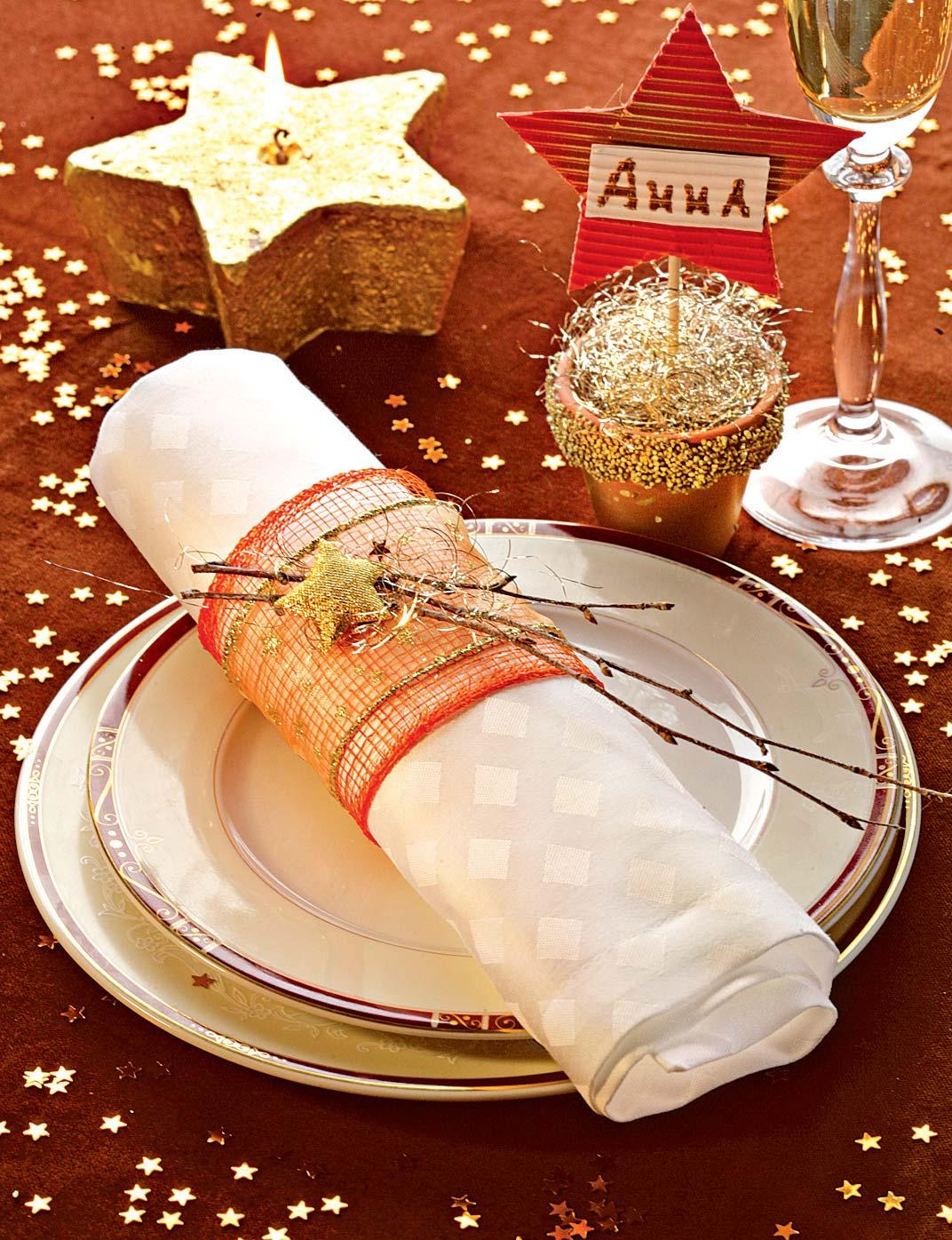 Фрагмент сервировки новогоднего стола 2018