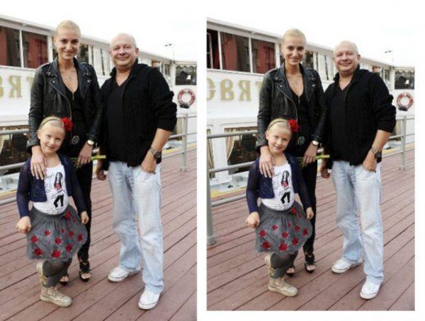 Влюбленные супруги с дочерью