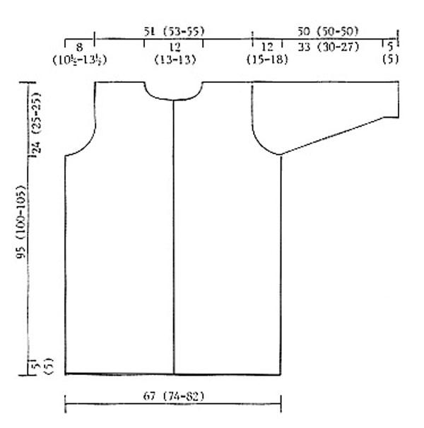 Схема вязаного пальто