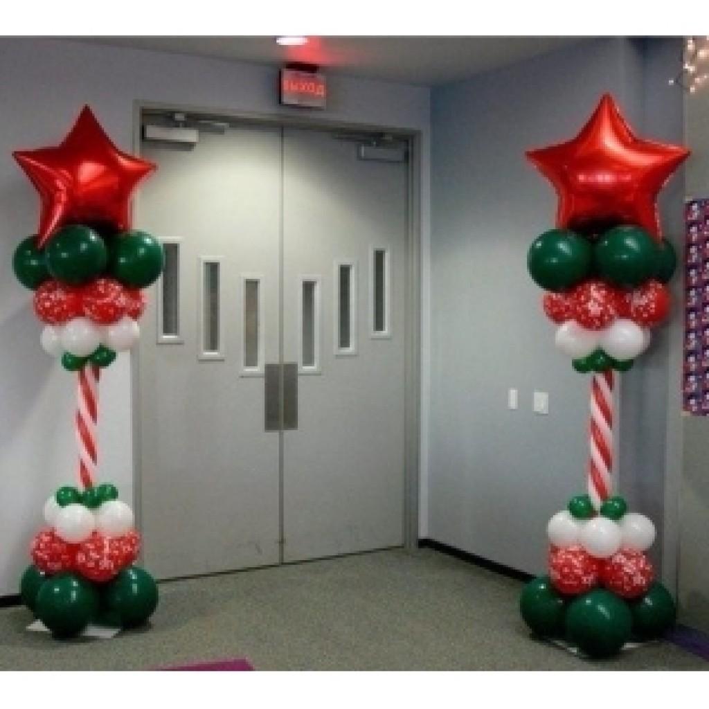Креативное оформление двери на новый год