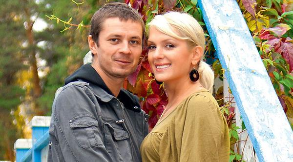 Илья Древнов с женой актрисой Марией Порошиной