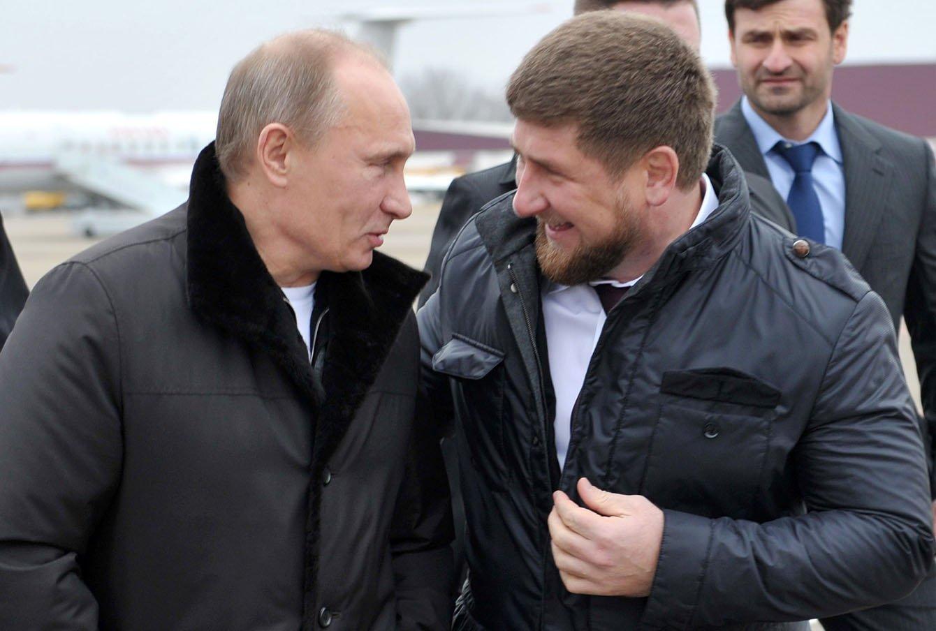 Фото: Владимир Путин и Рамзан Кадыров