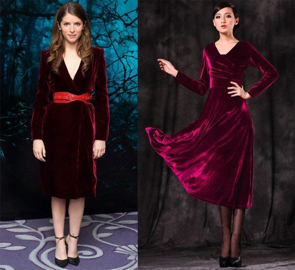 Лаконичные бархатные платья