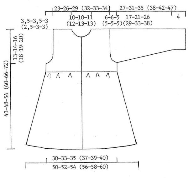 Схема пальто для девочки