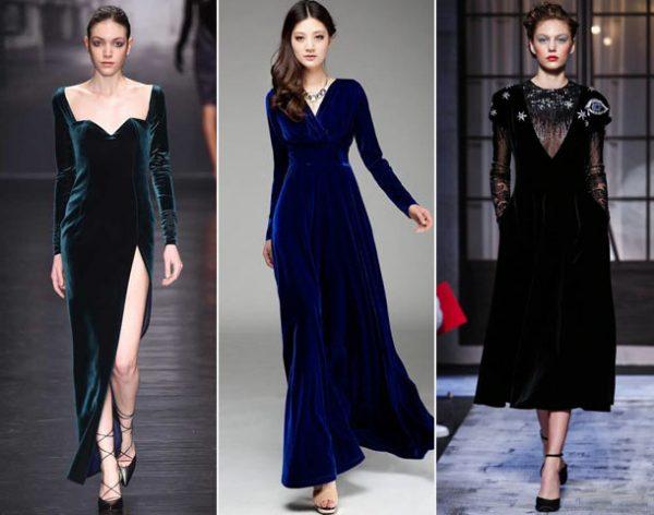 Женственные бархатные платья