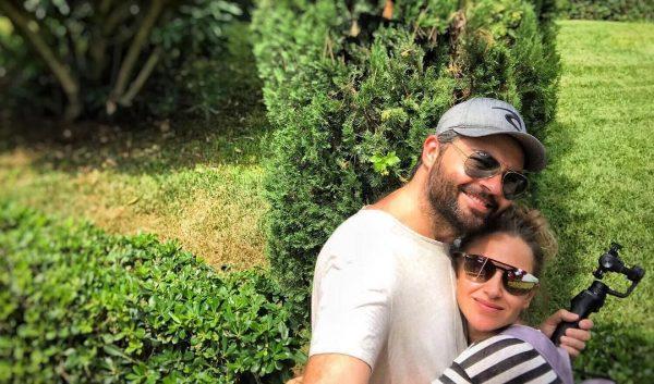 Юлия с мужем на отдыхе в Испании