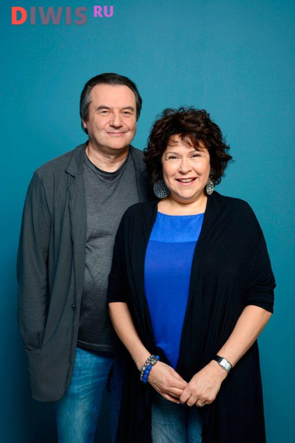 Алексей Учитель с супругой Кирой Саксаганской