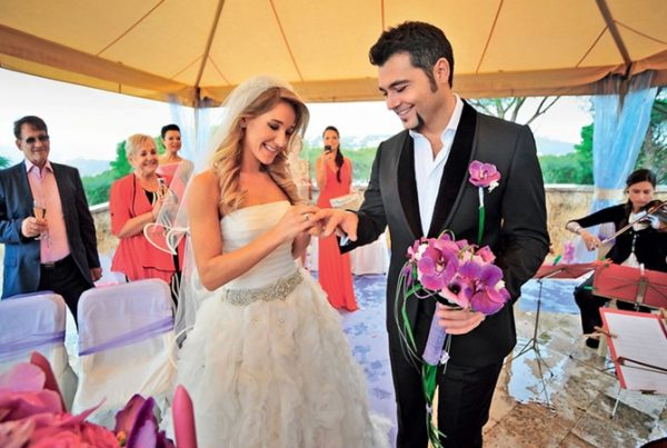 Фото со свадьбы знаменитостей