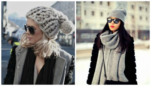 Модные шапки осень-зима 2018-2019 вязаные: фото DIWIS