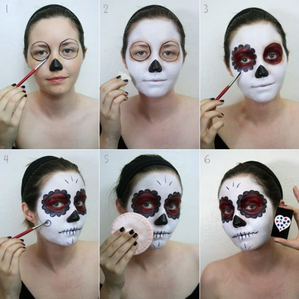 Макияж на Хэллоуин для девушек своими руками: фото пошагово