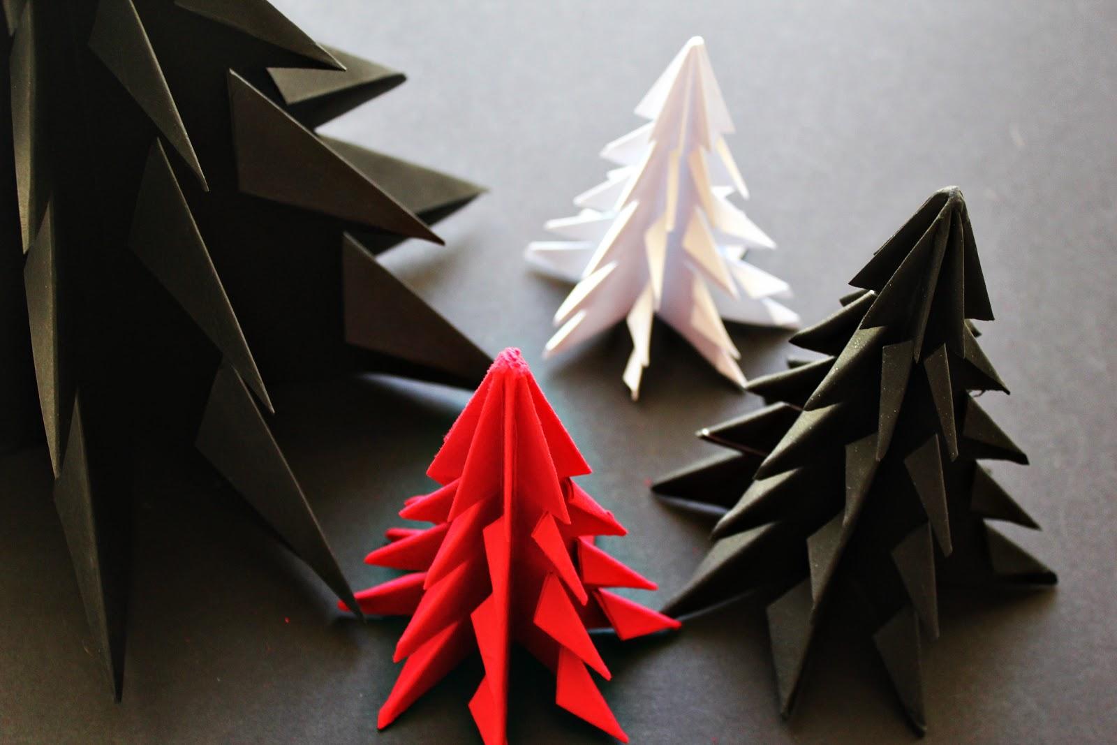 Елочки в технике оригами могут быть самыми разнообразными