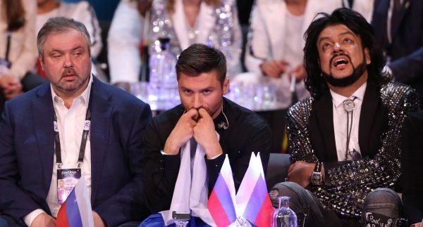 Киркоров с Лазаревым на Евровидении