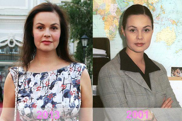Екатерина Андреева в молодости и сейчас