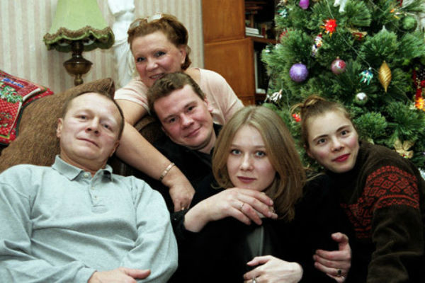 Борис Галкин с семьей